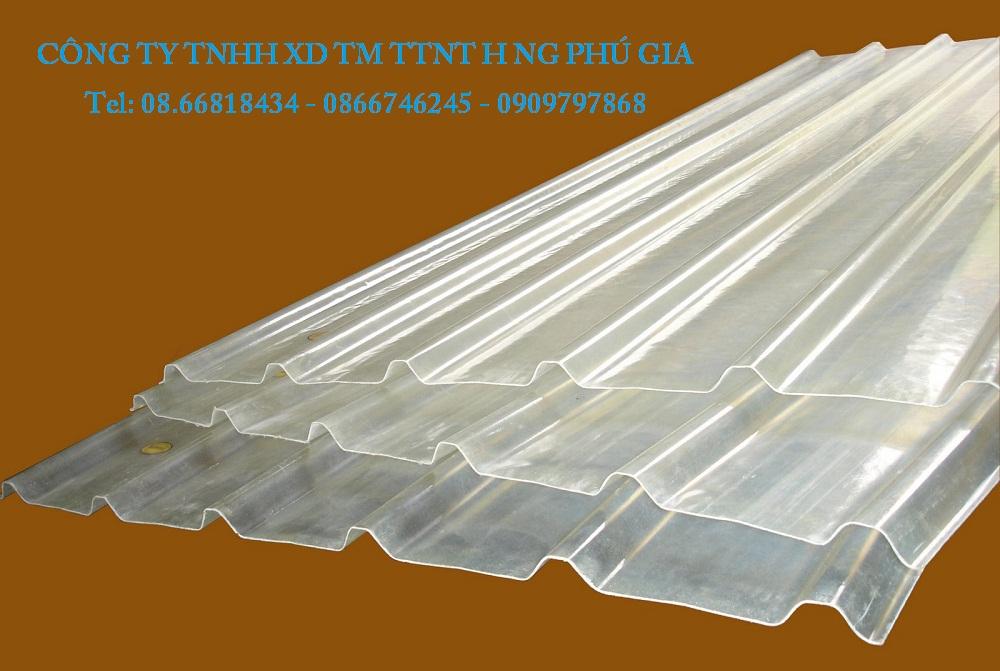 Tôn nhựa lấy sáng sợi thủy tinh composite frp