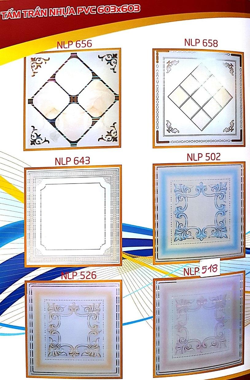 Catalo mẫu tấm trần nhựa 600x600, 600x1200