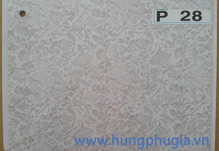 Tấm trần nhựa la phông 25cm p28