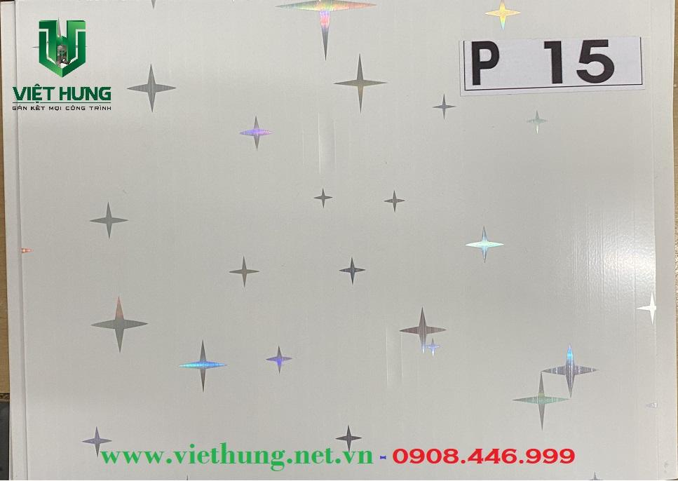 Tấm trần nhựa dài bản 25cm màu P15