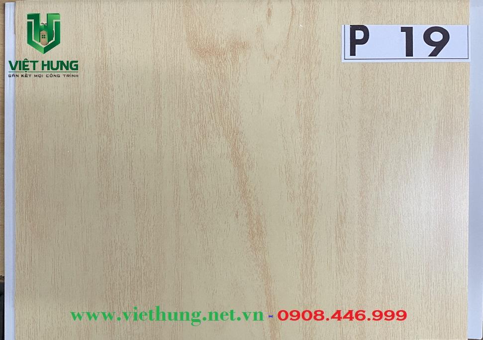 Tấm trần nhựa dài bản 25cm màu vân gỗ P19