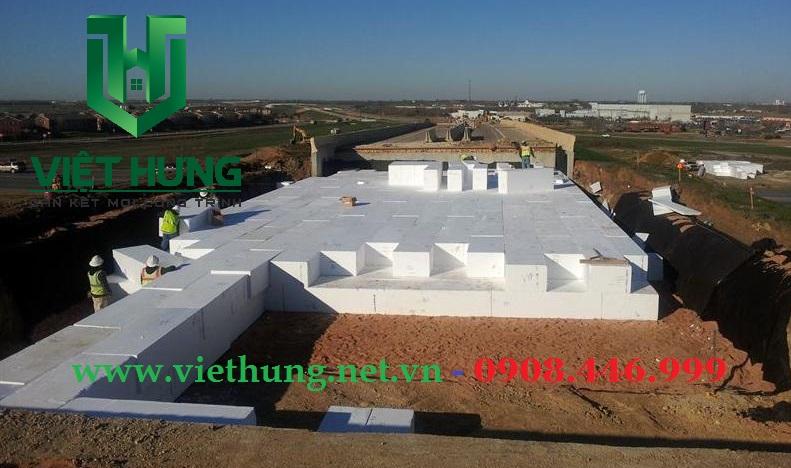 Xốp cách nhiệt EPS tỷ trọng cao nâng sàn tôn nền bê tông