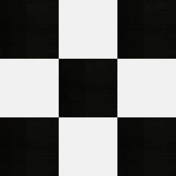 Simili trải sàn lót sàn ô trắng đen 12401