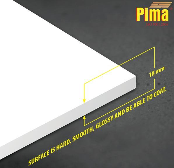 Tấm ván nhựa pvc Pima Foam cứng 18mm