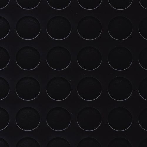Simili trải sàn hình nút chống trơn trượt 1.2mm tròn đen