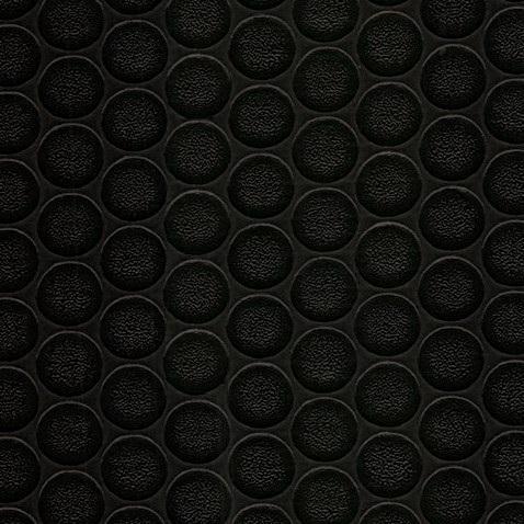 Simili trải sàn hình nút chống trơn trượt 1.2mm nút tròn đen nhỏ