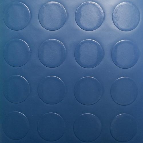 Simili trải sàn hình nút chống trơn trượt 1.2mm nút tròn xanh dương