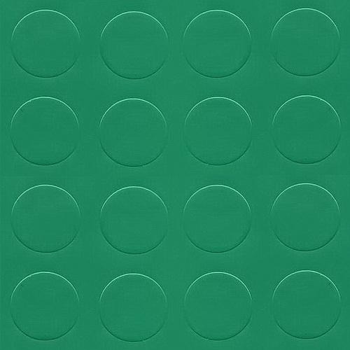 Simili trải sàn hình nút chống trơn trượt 1.2mm nút tròn xanh lá cg232