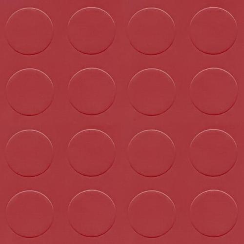 Simili trải sàn hình nút chống trơn trượt 1.2mm nút tròn đỏ CR203