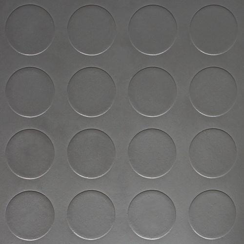 Simili trải sàn hình nút chống trơn trượt 1.2mm nút xám tròn đậm SDG208
