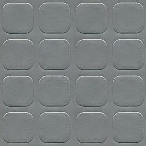 Simili trải sàn hình nút chống trơn trượt 1.2mm nút xám vuông xám lợt SG205