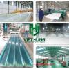 Hình ảnh nhà máy nhà kho nhà xưởng sản xuất tôn nhựa lấy sáng sợi thủy tinh composite