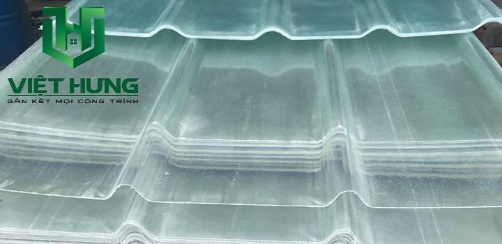 Tôn nhựa lấy sáng Sợi thủy tinh composite 4 sóng kiplock