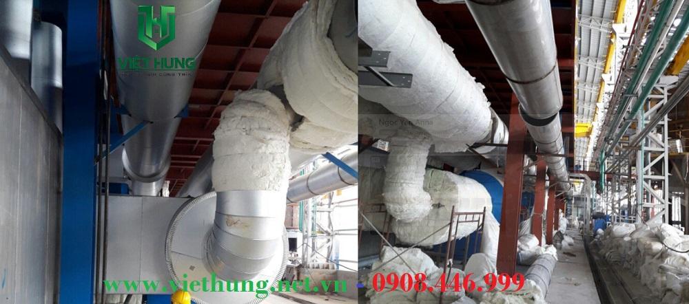 Bông gốm Ceramic cách nhiệt cho đường ống công nghiệp