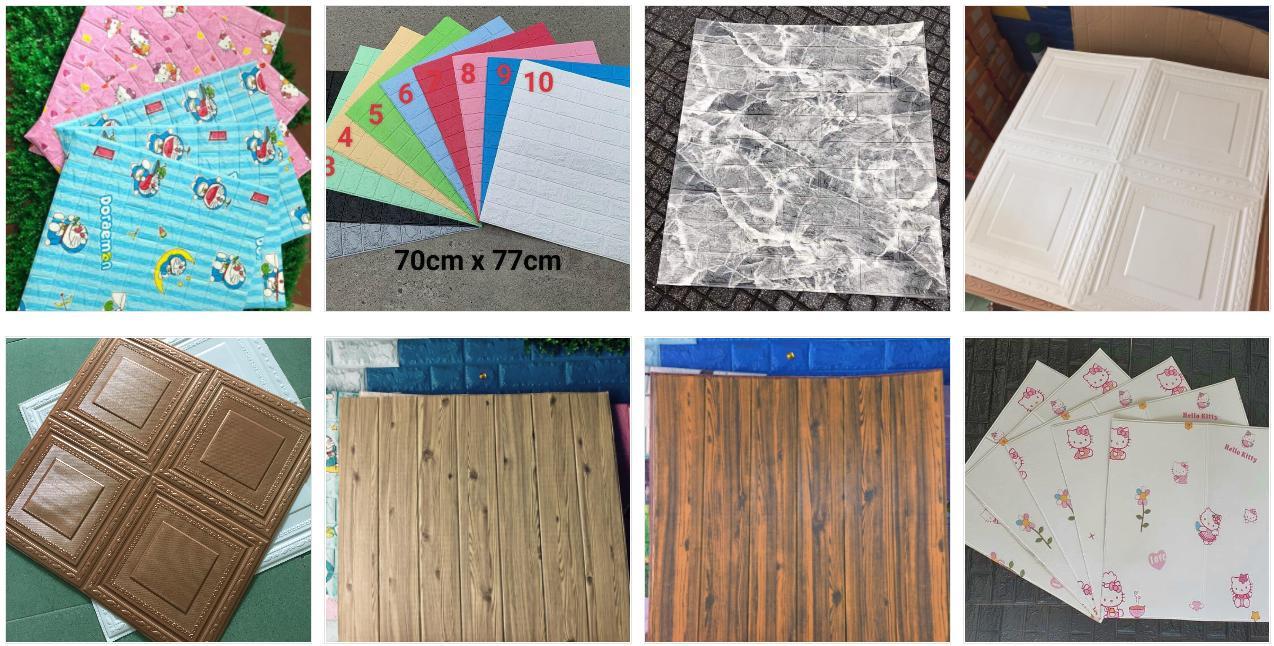 Xốp dán tường 3D, Giả gỗ, Giả gạch, Giá đá