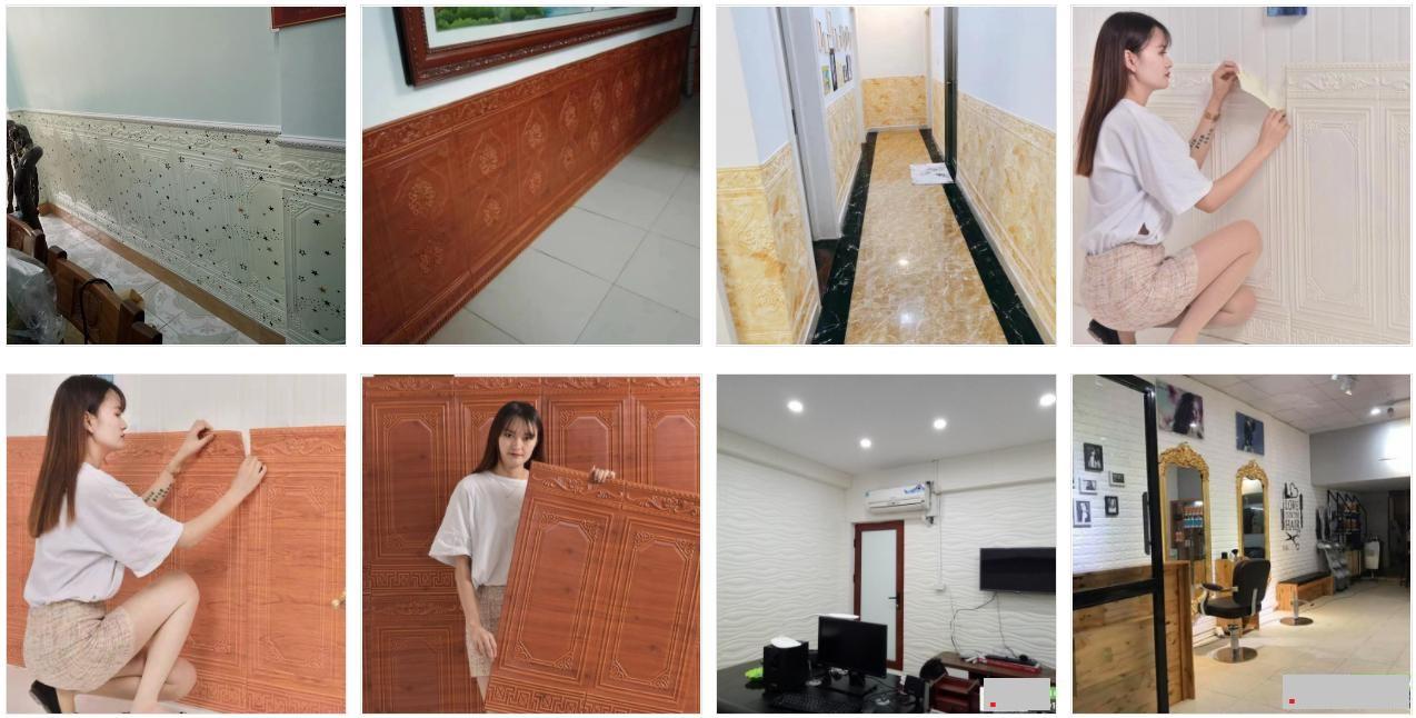 Miếng Xốp dán tường 3D, Giả vân gỗ giá rẻ tại quận Tân Phú, Tp.HCM
