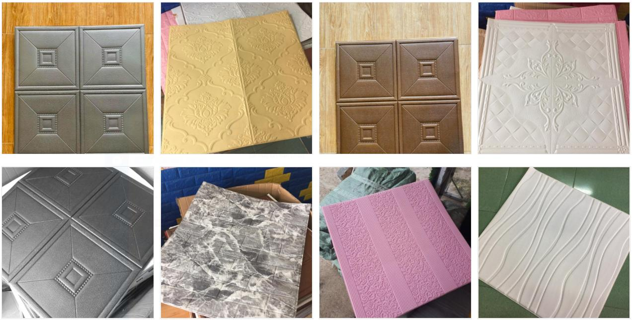 Miếng Xốp dán tường 3D, Giả gỗ, Giả gạch, Giá đá