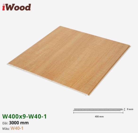 Tấm ván nhựa ốp tường giả vân gỗ Iwood màu w40-1