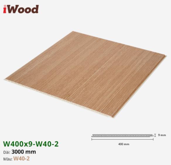 Tấm ván nhựa ốp tường giả vân gỗ Iwood màu w40-2