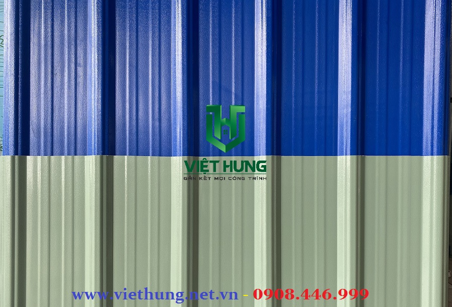 Bảng màu tôn nhựa pvc Asa 4 lớp chống ăn mòn hóa chất