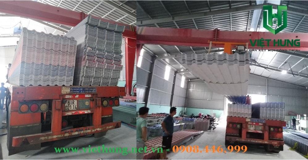 Nhà máy sản xuất tôn nhựa pvc Asa 5 sóng 6 sóng