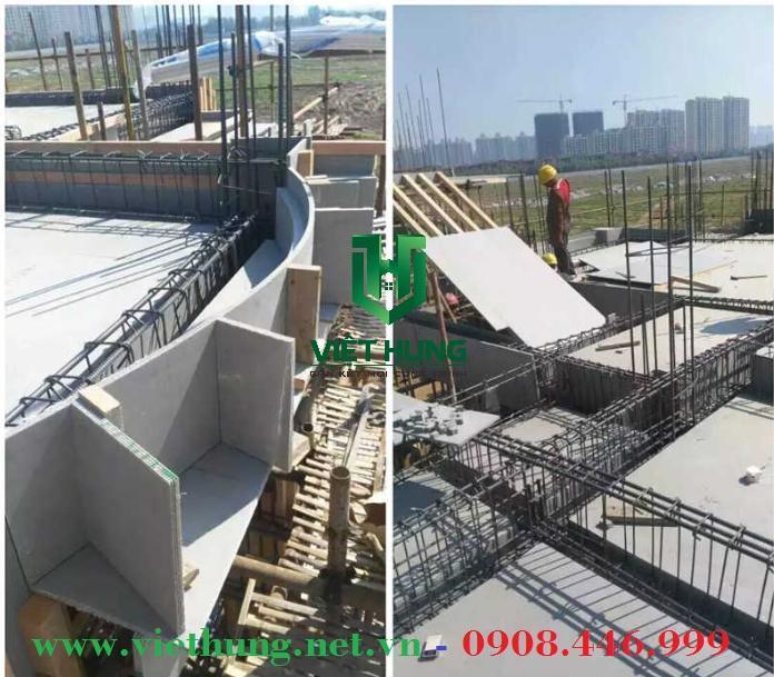 Tấm cốp pha lót sàn bê tông trong xây dựng
