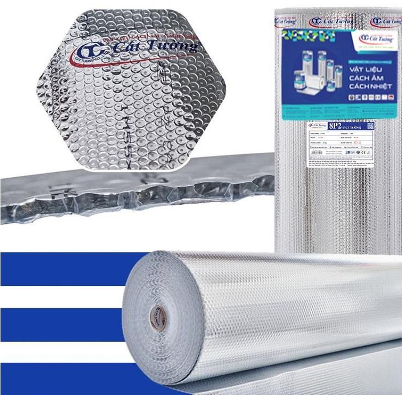 Cuộn tấm túi khí cách nhiệt cát tường 8p2 phủ 2 lớp bạc