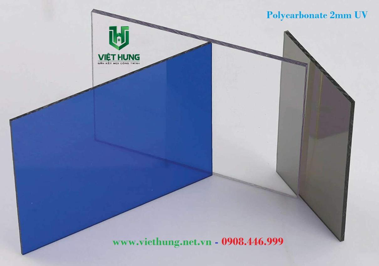 Tấm lợp lấy sáng poly polycarbonate đặc ruột 2mm