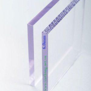 Tấm lợp lấy sáng Polycarbonate đặc ruột dày 6mm màu trắng trong